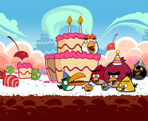 игра Angry Birds: Birthday Party